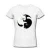 Kép 1/2 - Egyedi feliratos női póló- Jing-jang Macska