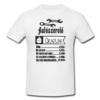 """Kép 1/2 - Egyedi vicces fehér pamut férfi póló """"autószerelő"""""""