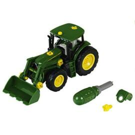 JOHN DEERE traktor homlokrakodóval 1:24 es, mérete 37*13,7*22 cm