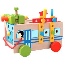 Szerelhető autóbusz fajáték-Woodyland