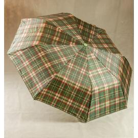 Zöld kockás esernyő