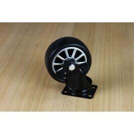 Fekete fém kocsi kerék, forgó, 4 ponton rögzíthető