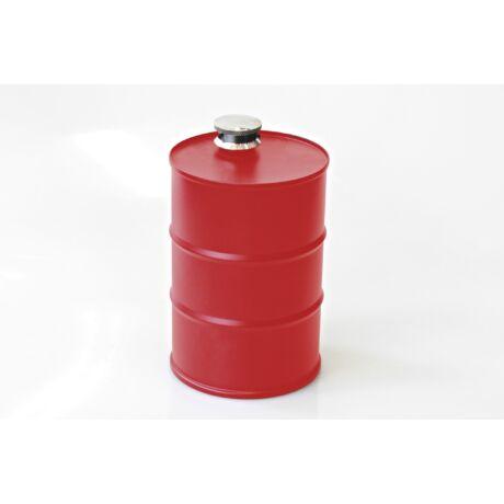 Fém Flaska hordó piros színben