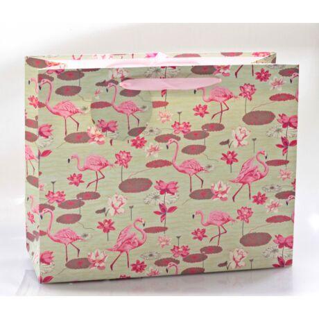 Papírtáska Flamingó