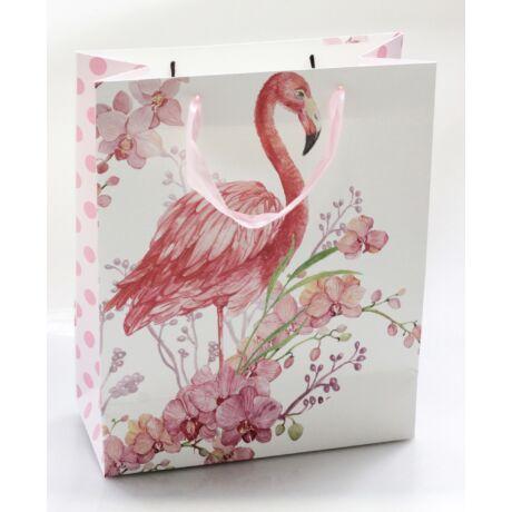 Papírtáska flamingó és Orchidea