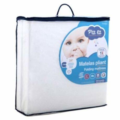 P'TIT LIT szétnyitható baba matrac, fehér