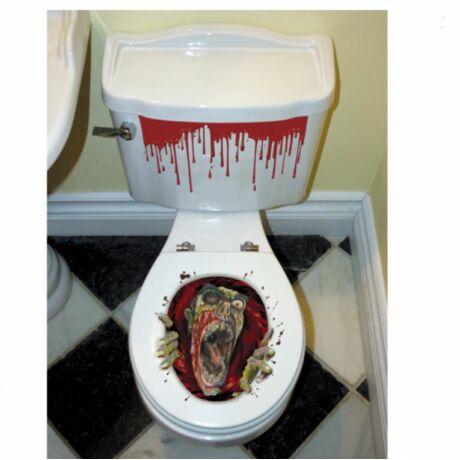 Zombis wc-ülőke matrica