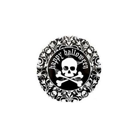 Qualatex - Happy Halloween Skull  45cm fólia léggömb