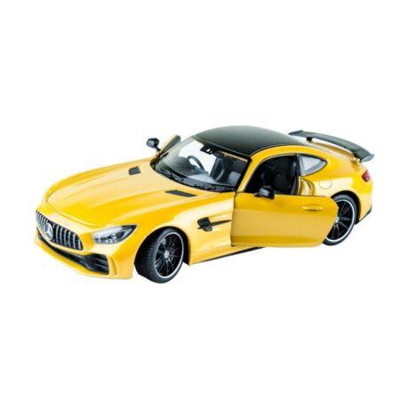 Welly Mercedes-Benz AMG GT sárga kisautó, 1:24