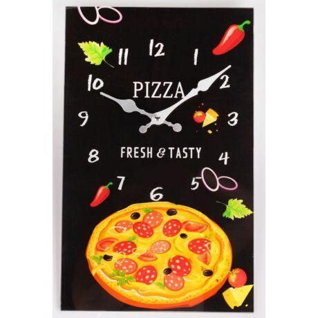 Pizzás fali óra, 25x40cm