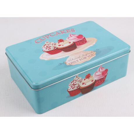 Fém tégladoboz Muffin mintás