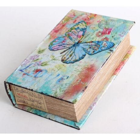 Könyves doboz lepke mintás