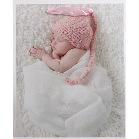 Lány baba mintás papírtáska, rózsaszín