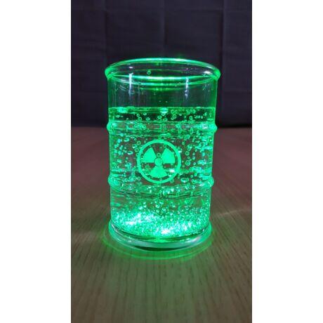 Átlátszó pohár led világítással