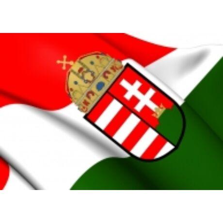 Magyar zászló címerrel - 100x 60 cm magyar zászló címerrel
