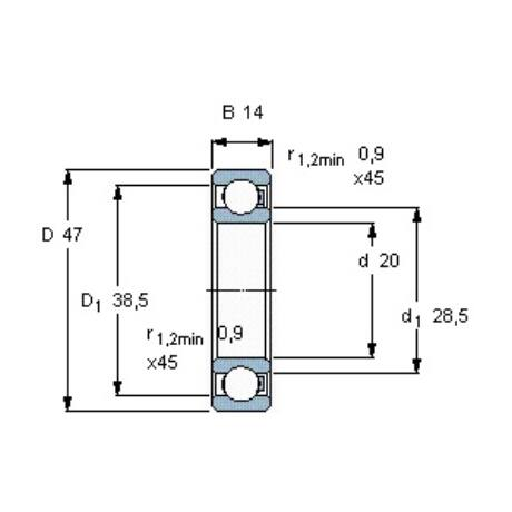 SKF 6204-HR22T2 Egysorú mélyhornyú golyóscsapágyak