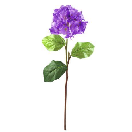 Hortenzia ág, levendula színű műnövény 76cm