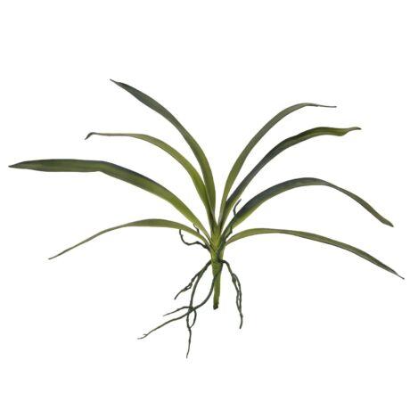 Orchidea levél zöld műnövény 45cm