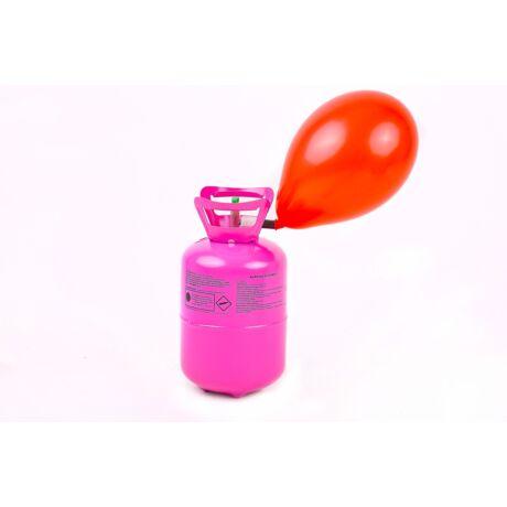 Hélium 30 léggömb felfújására: + 30 színes lufi