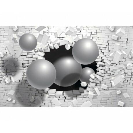 Fotótapéta 3D gömb és kocka mintás 254x184cm
