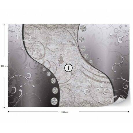 Fotótapéta Blomma B&W design mintás 208x146cm