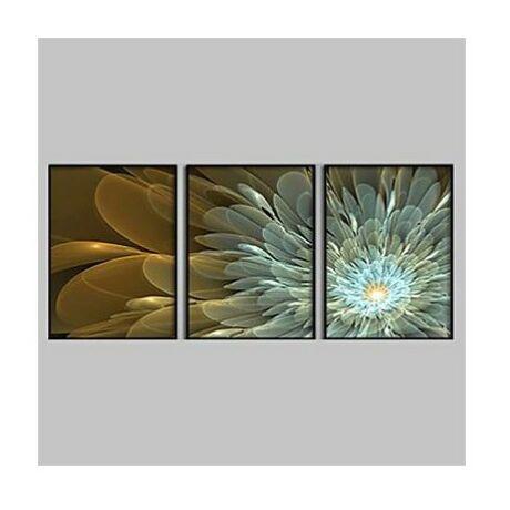 Fekete képkeret szett virágmintás fotóval 40x60-as