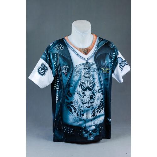 Biker Man felnőtt póló, jelmez
