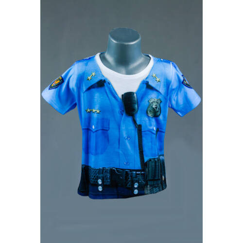 Rendőr gyerek póló, jelmez