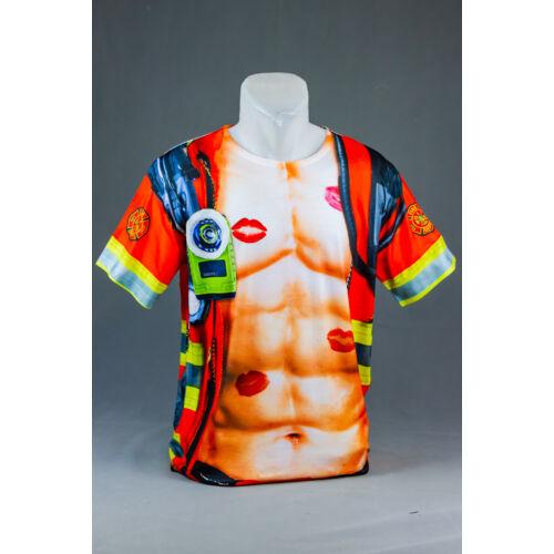 Sexy Tűzoltó felnőtt póló, jelmez