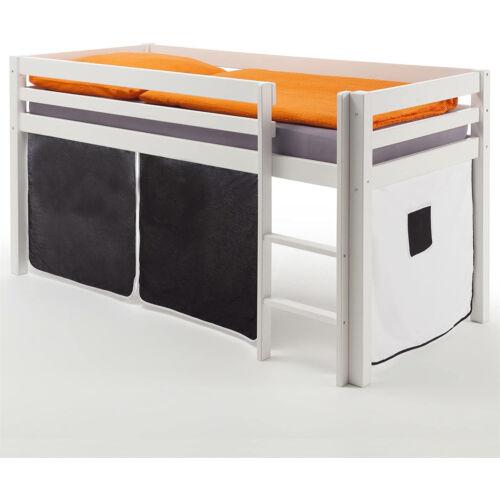 Idmex galériás gyerek ágy fehér, oroszlán mintával