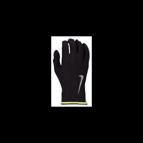 Nike futókesztyű, Fekete-Fluo sárga