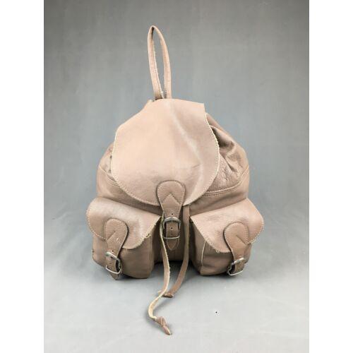 Bőr női hátizsák barna