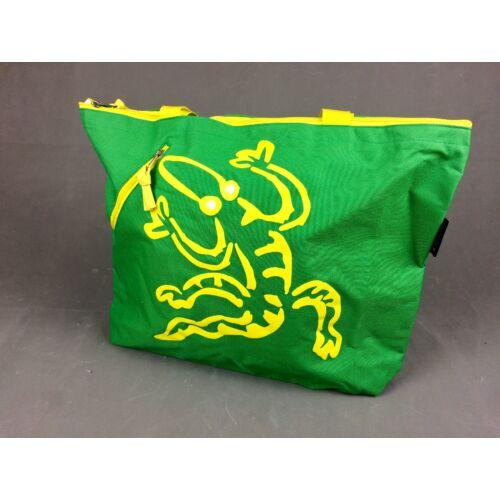 Strand táska zöld-sárga