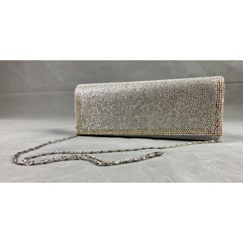 Sissi alkalmi táska ezüst strasszos