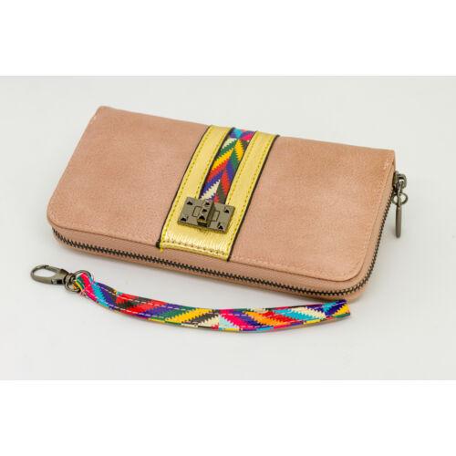 Púder színű pénztárca