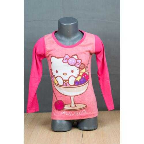 Hello Kitty hosszú ujjú rózsaszín  kislány póló