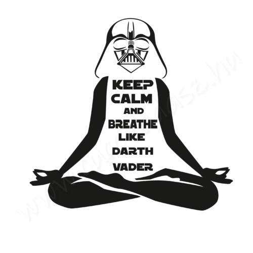 Egyedi feliratos póló- Jóga - Breath like Darth Vader