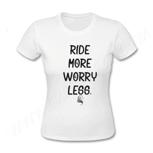 Egyedi feliratos póló Lovas - Ride more worry less