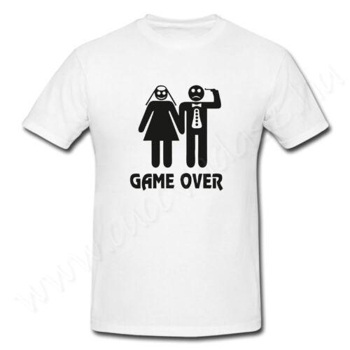 Egyedi feliratos férfi póló - Legénybúcsú Game over
