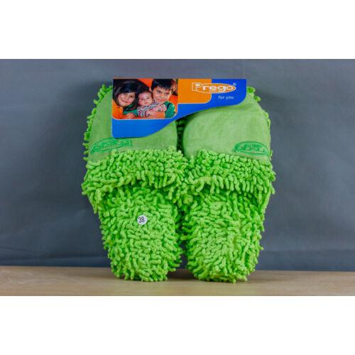 Prego papucs, zöld rojtokkal
