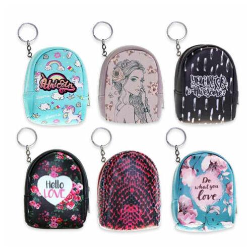 Tesoro: Kulcstartós hátizsák formájú pénztárca többféle változatban