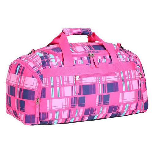 Spirit: Rózsaszín sporttáska kockás mintával 55x31x41cm