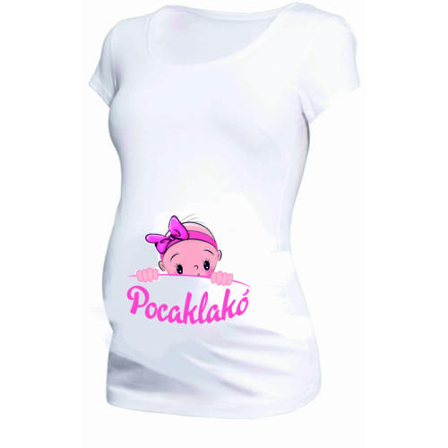 Egyedi feliratos női póló- Kismamáknak Pocaklakó