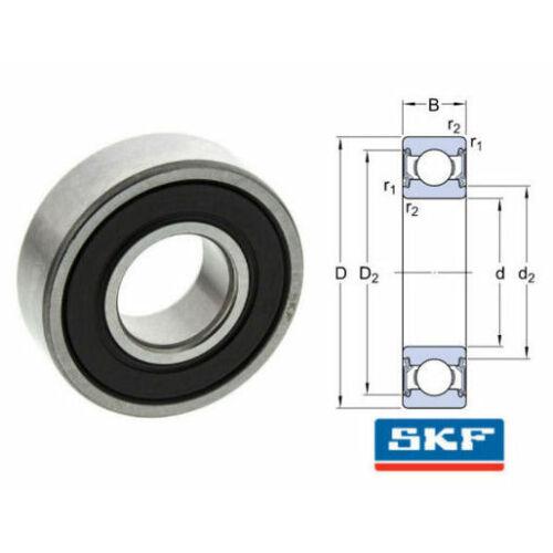 SKF 61801-2RS1 Hornyos golyós csapágy 21 mm