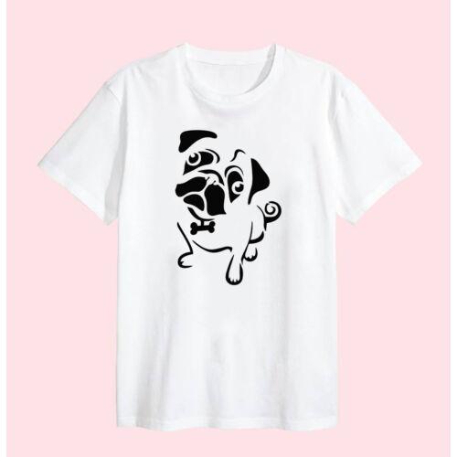 """EGYEDI VICCES FEHÉR PAMUT PÓLÓ Egyedi vicces fehér pamut póló """"Kutyás póló 5"""""""