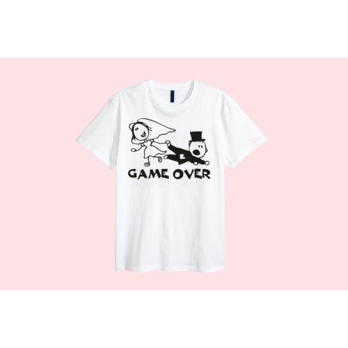 """Egyedi vicces fehér pamut póló """"Lánybúcsú 3"""""""