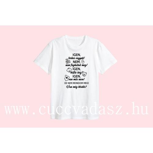 Egyedi vicces feliratos női póló-Igen, terhes vagyok ( fiú)