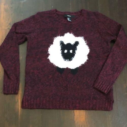 Forever 21 kötött bárány mintás pulóver