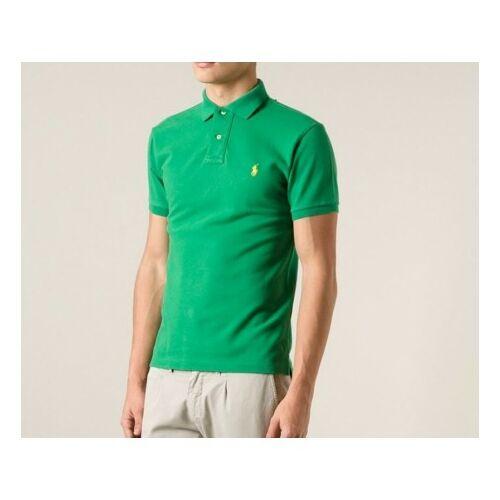 Ralph Lauren Skinny Férfi galléros póló, Zöld