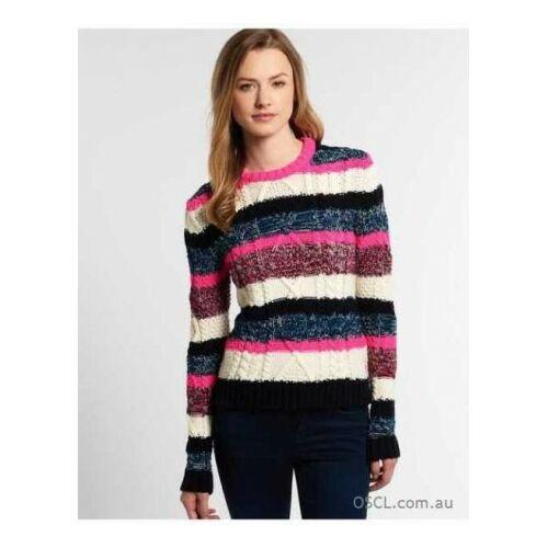 Superdry Twist Stripe női kötött pulóver